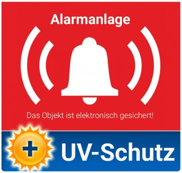 Aufkleber Alarmanlage mit UV-Schutz
