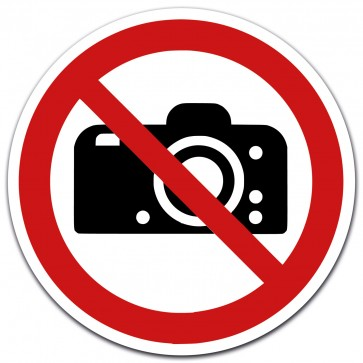 Aufkleber Fotografieren verboten, Durchmesser 12 cm
