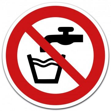 Aufkleber Kein Trinkwasser, Ø 12 cm Folie mit UV-Schutzlaminat gemäß ASR A 1.3/BGV A8/DIN 4844