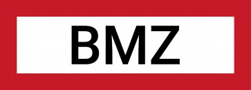 BMZ Schild Aufkleber