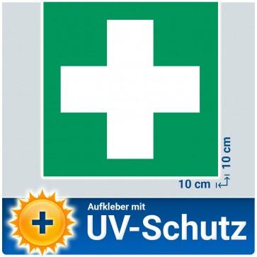 """5x Aufkleber """"Erste Hilfe"""" mit UV-Schutzlaminat, 10x10cm"""