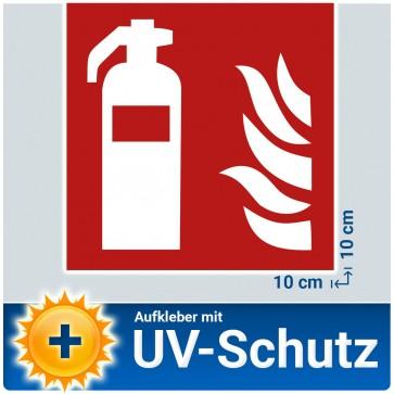 5x Feuerlöscher Aufkleber Sticker, Brandschutzzeichen Schild mit UV-Schutz, Aussenklebend, Hinweis Piktogramm Symbol Feuerlöscherkasten für Haus, B