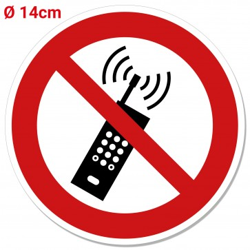 Handy verboten Aufkleber Verbotsaufkleber