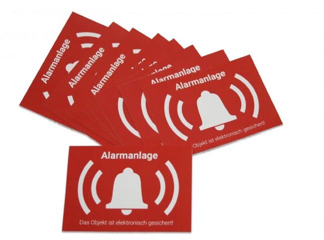 10x Alarm Aufkleber Sticker Warnaufkleber Alarmanlage Mit Uv Schutz