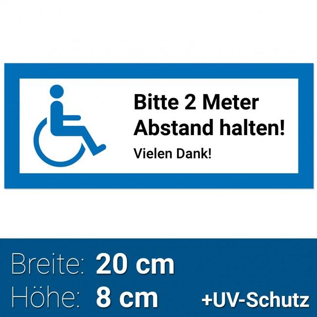 Aufkleber Rollstuhlfahrer 20x8cm Rollstuhl Symbol Zeichen Rollstuhlaufkleber Behindertenaufkleber