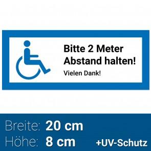 Aufkleber Rollstuhlfahrer, Rollstuhl Symbol / Zeichen, Parken mit Behinderung, Rollstuhlaufkleber, Behindertenaufkleber, Rollstuhlzeichen, Autoaufkleber
